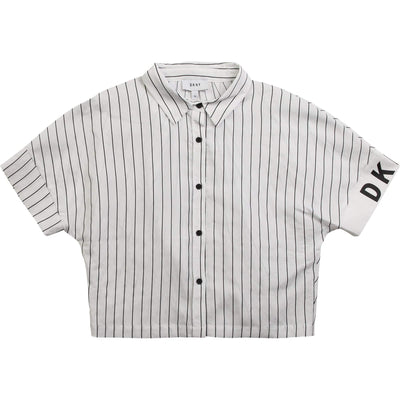 DKNY Girls Striped Shirt D35Q63/10B