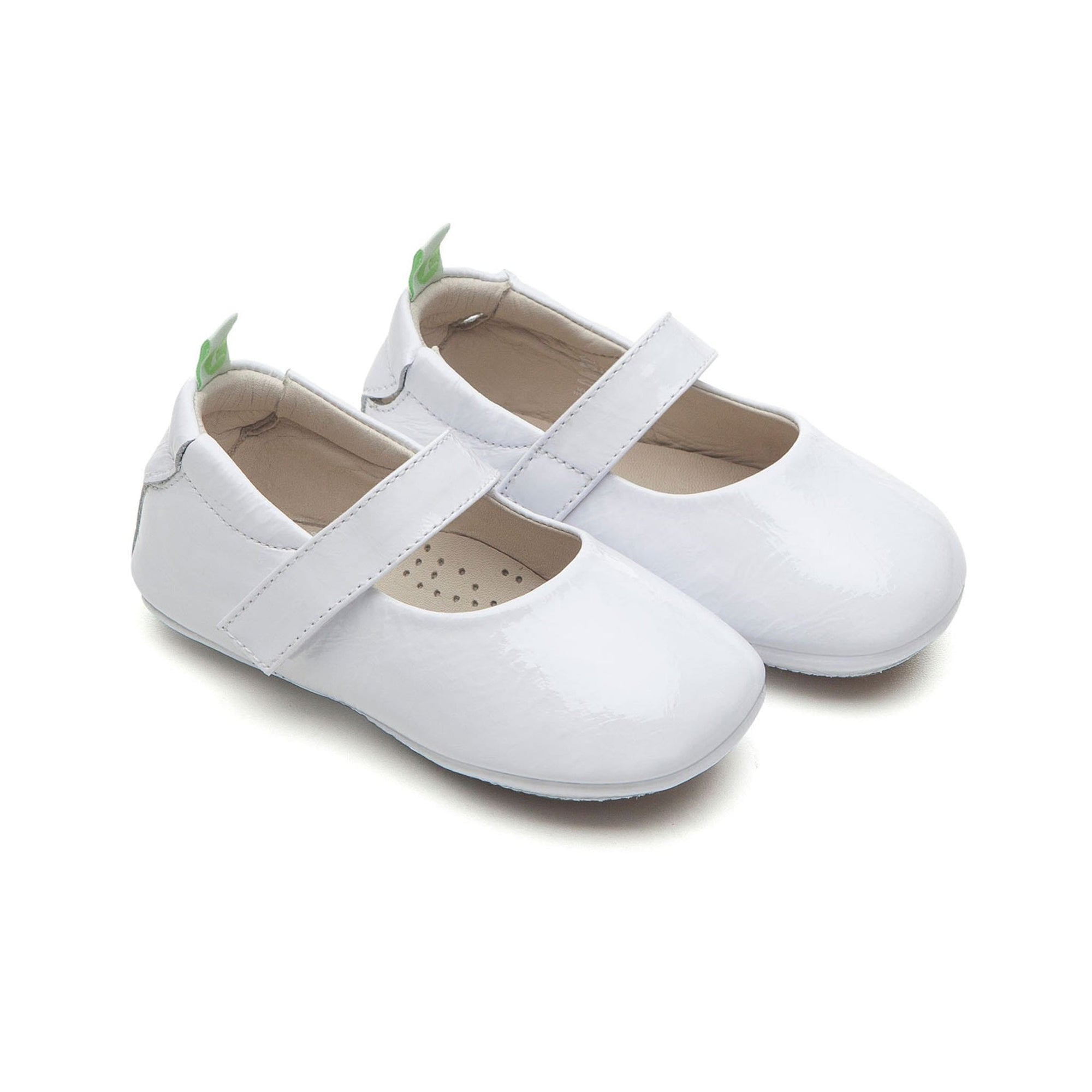 Tip Toey Joey Mary Janes Dolly Patent White