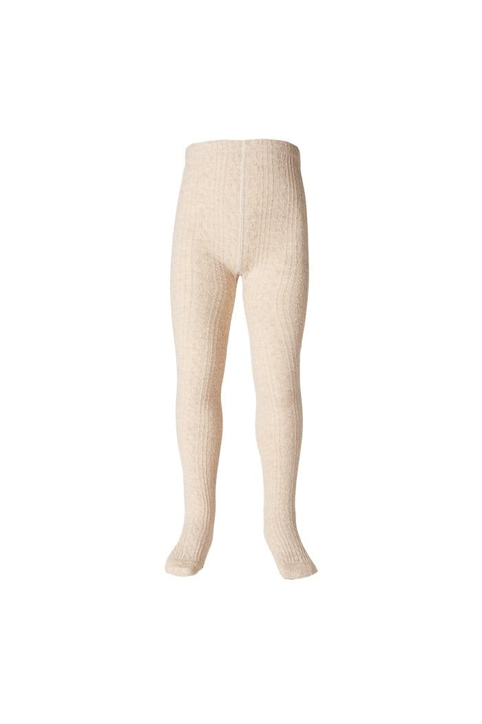Milky Jaquard Tights - Oatmeal