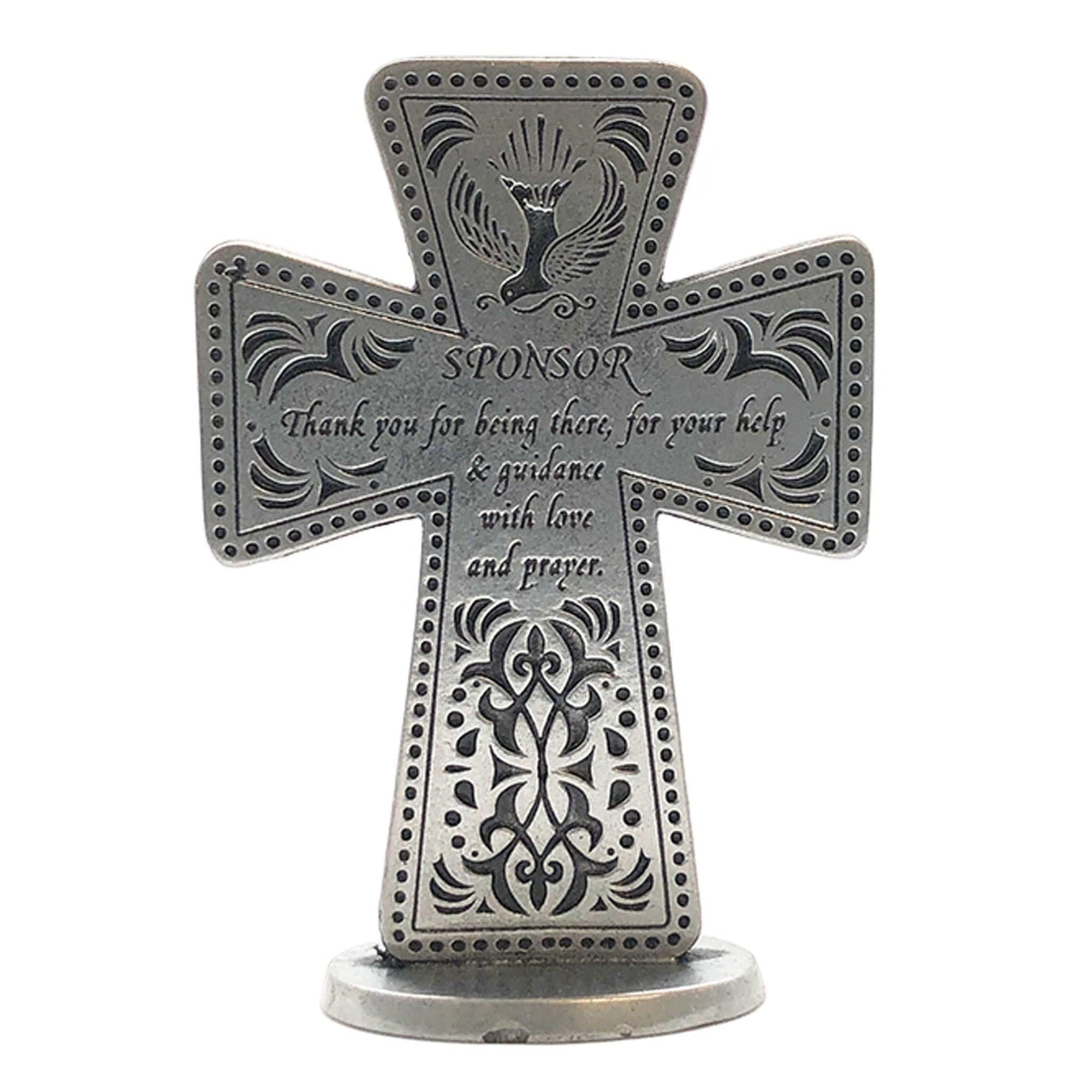 Sponsor Pewter Small Standing Cross