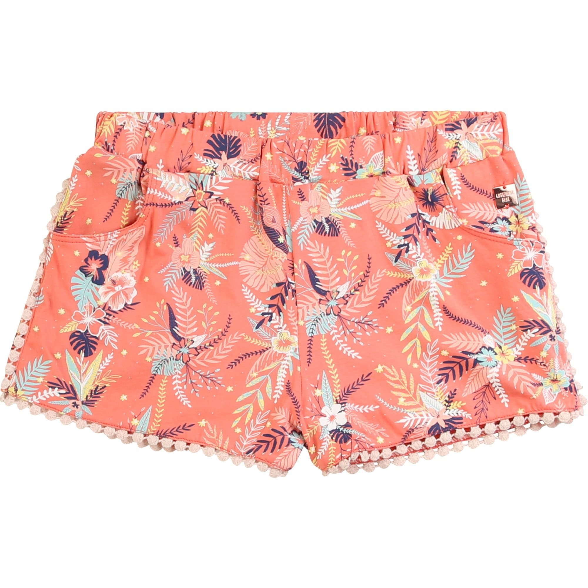 Carrement Beau Apricot Floral Shorts