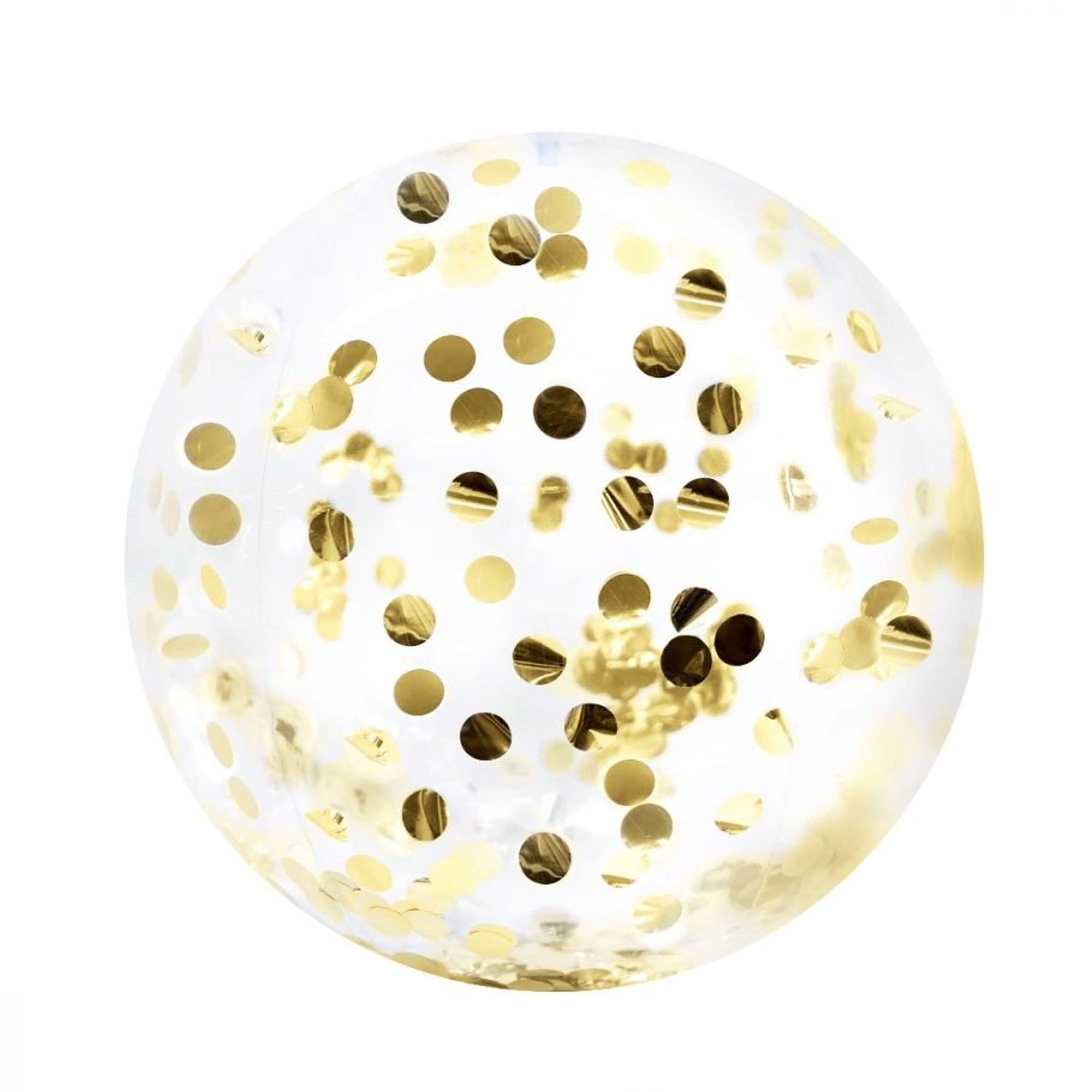 Minnidip Gold Confetti Beach Ball