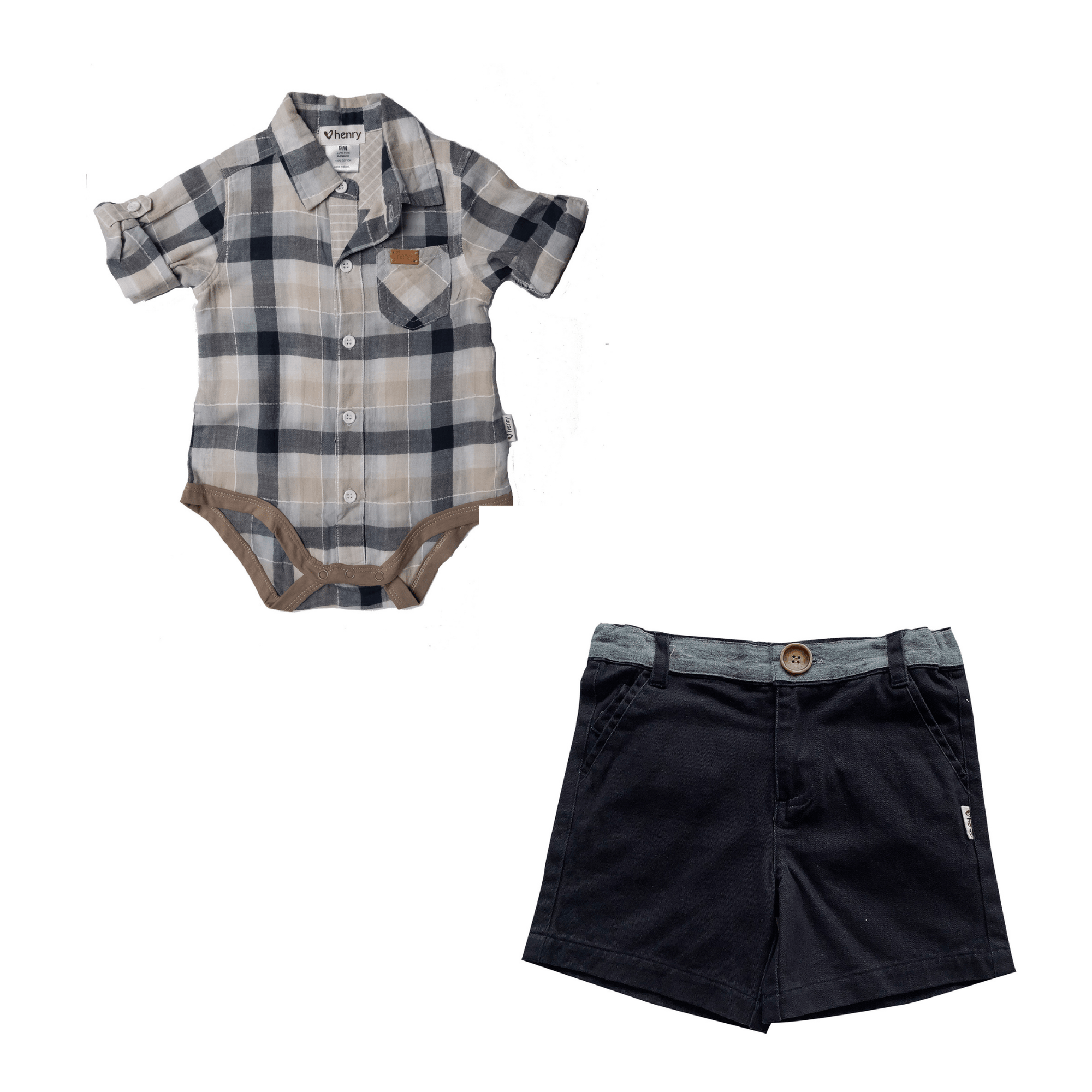 Love Henry Baby Boys Oscar Shirt and Shorts Set