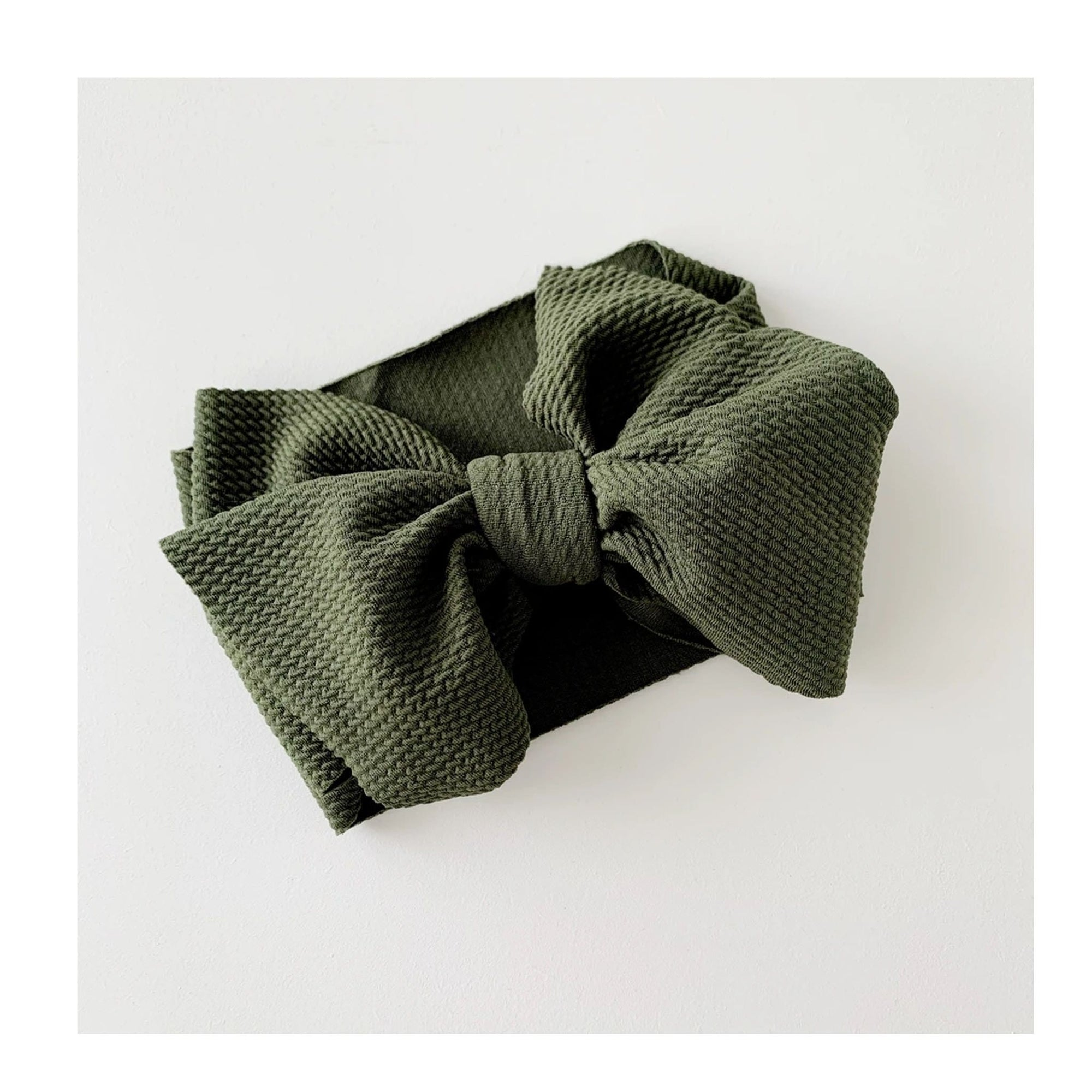 Bow Collective Halle Big Bow Headwrap Olive