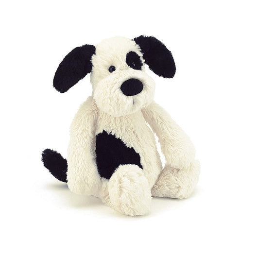 Jelly Cat Bashful Black & White Puppy Small