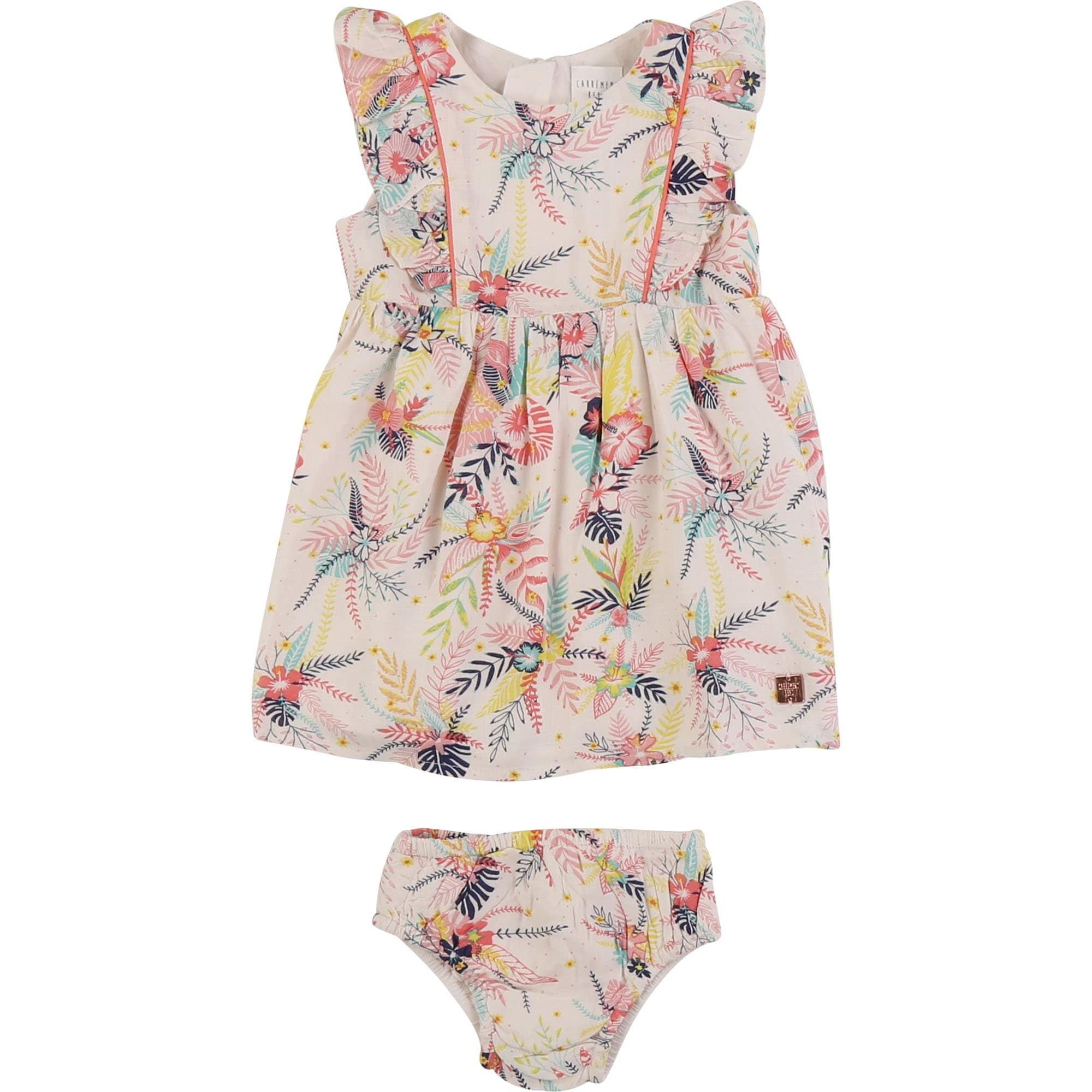 Carrement Beau Floral Dress and Bloomer Set