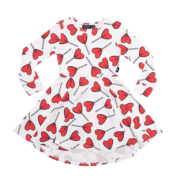 Rock Your Kid Little Sweetie LS Waisted Dress (4636133032067)