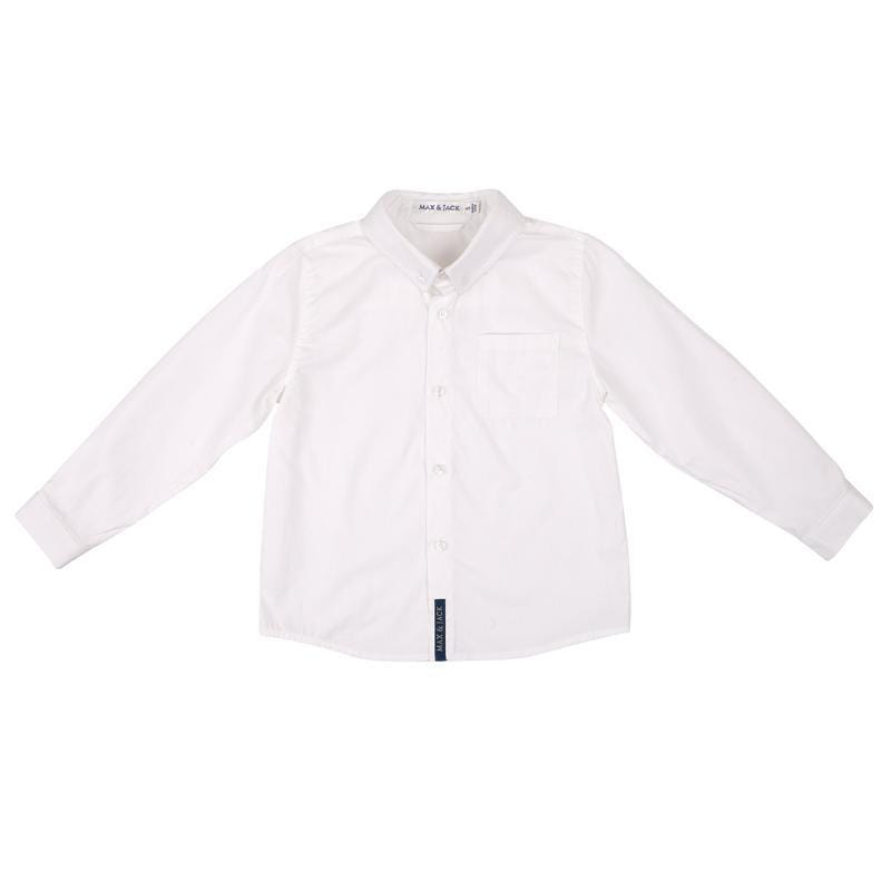 Max and Jack L/S Shirt White