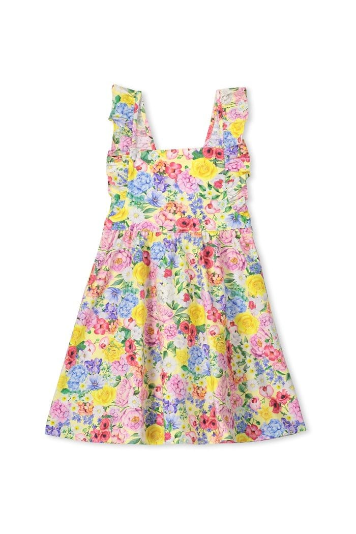 Milky Summer Floral Dress