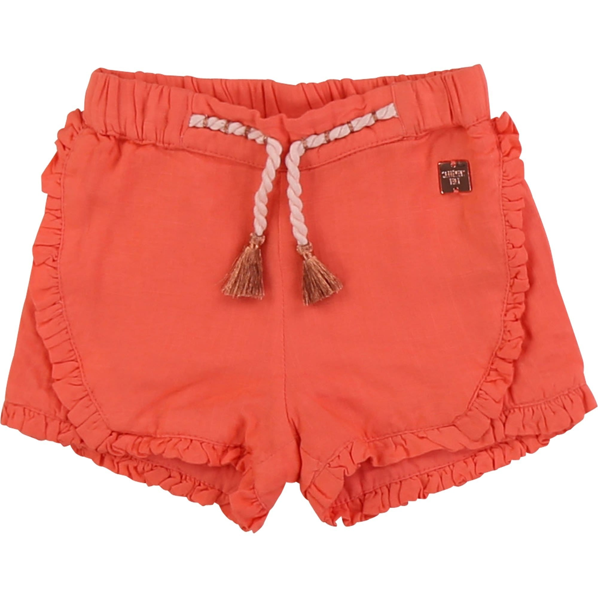 Carrement Beau Frilled Shorts Apricot