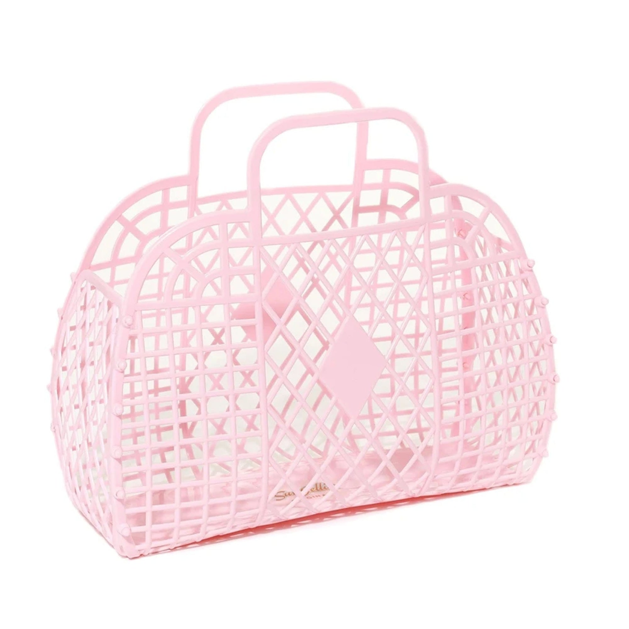 Sun Jellies Retro Basket Pink - Small
