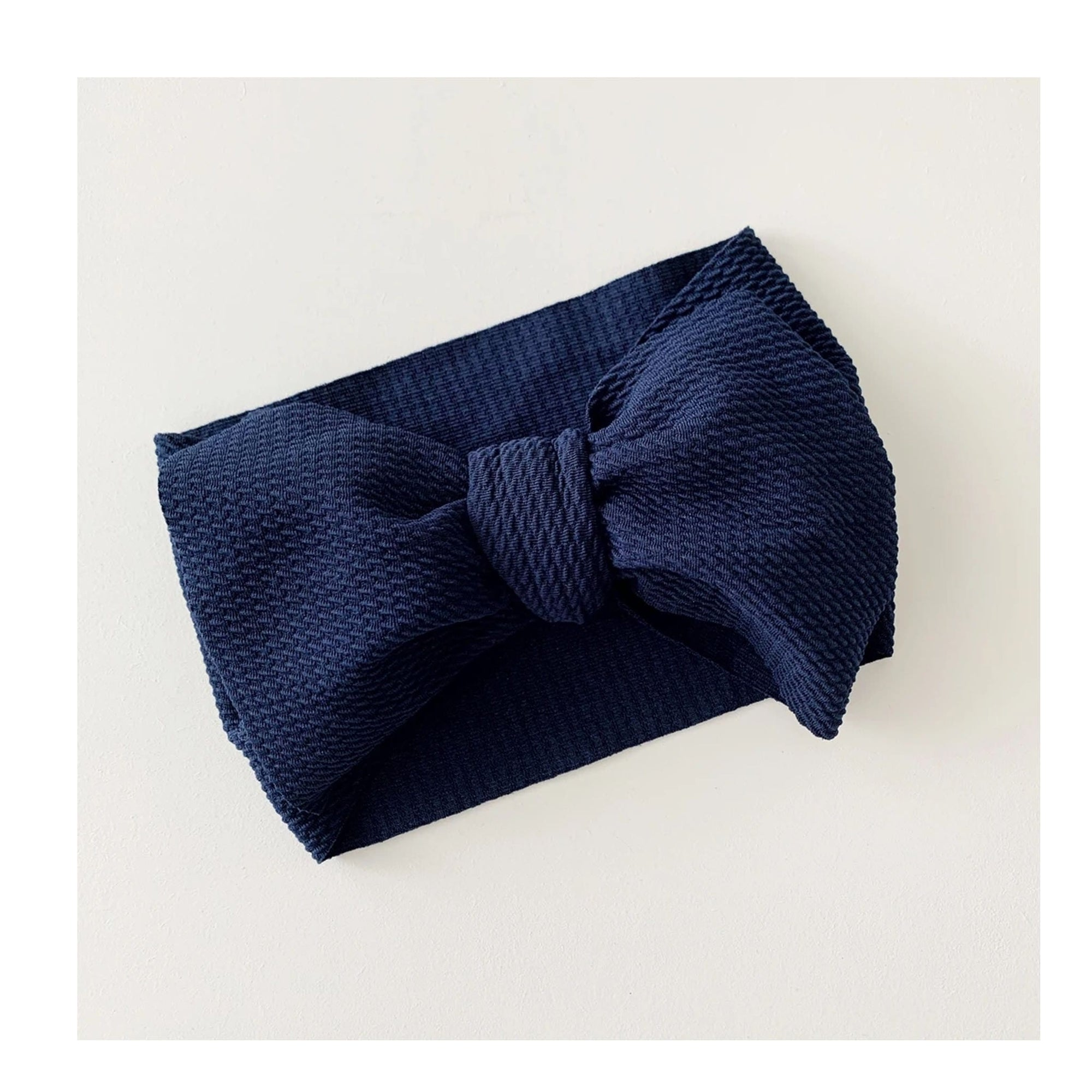 Bow Collective Halle Big Bow Headwrap Navy