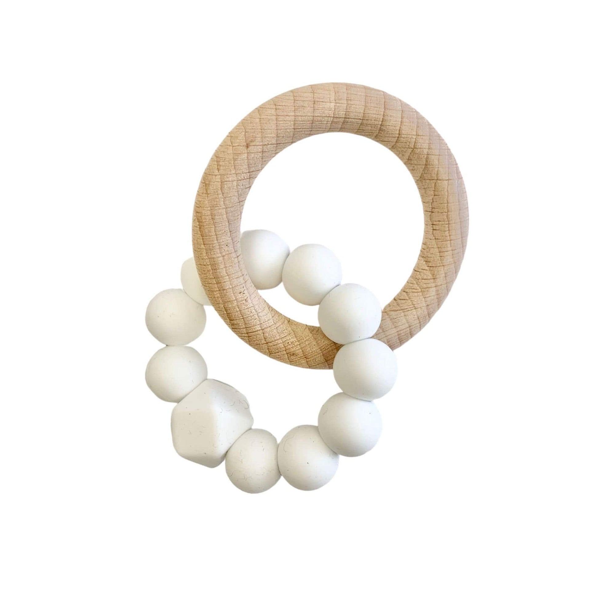 Hubba Bubba Co Rattle Ring - White