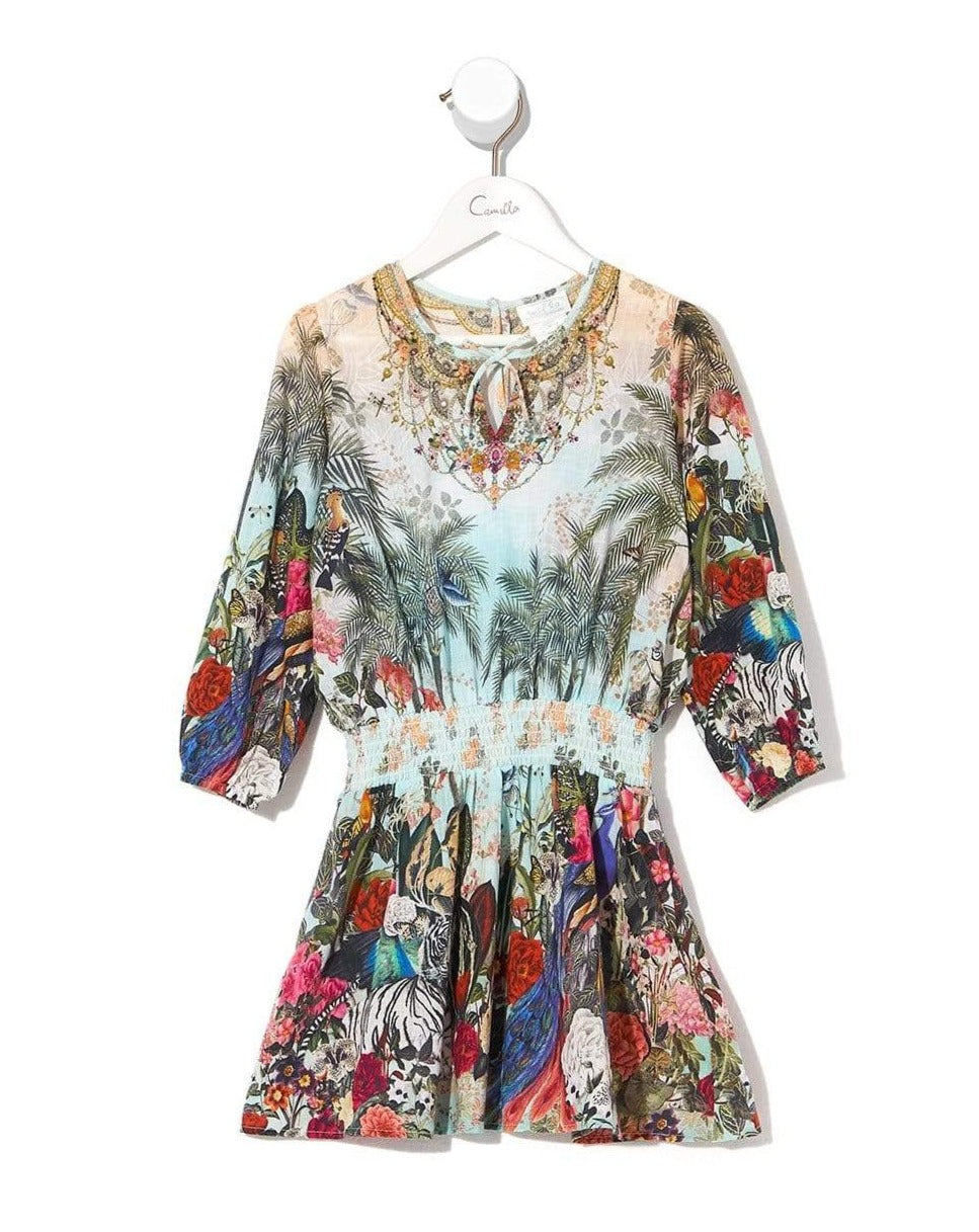 Camilla Gully Of Jupiter Kids 3/4 Flare Sleeve Playsuit