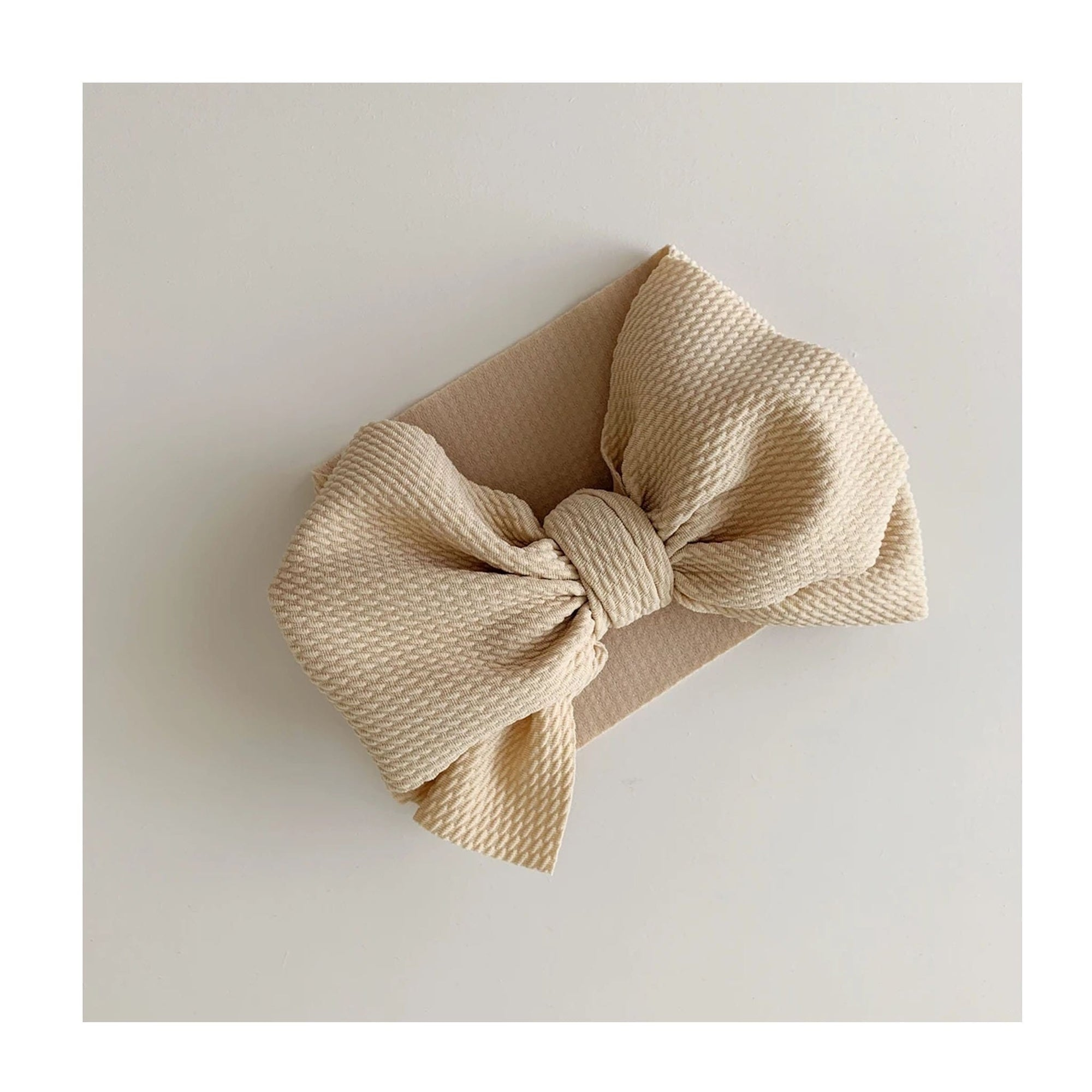 Bow Collective Halle Big Bow Headwrap Latte