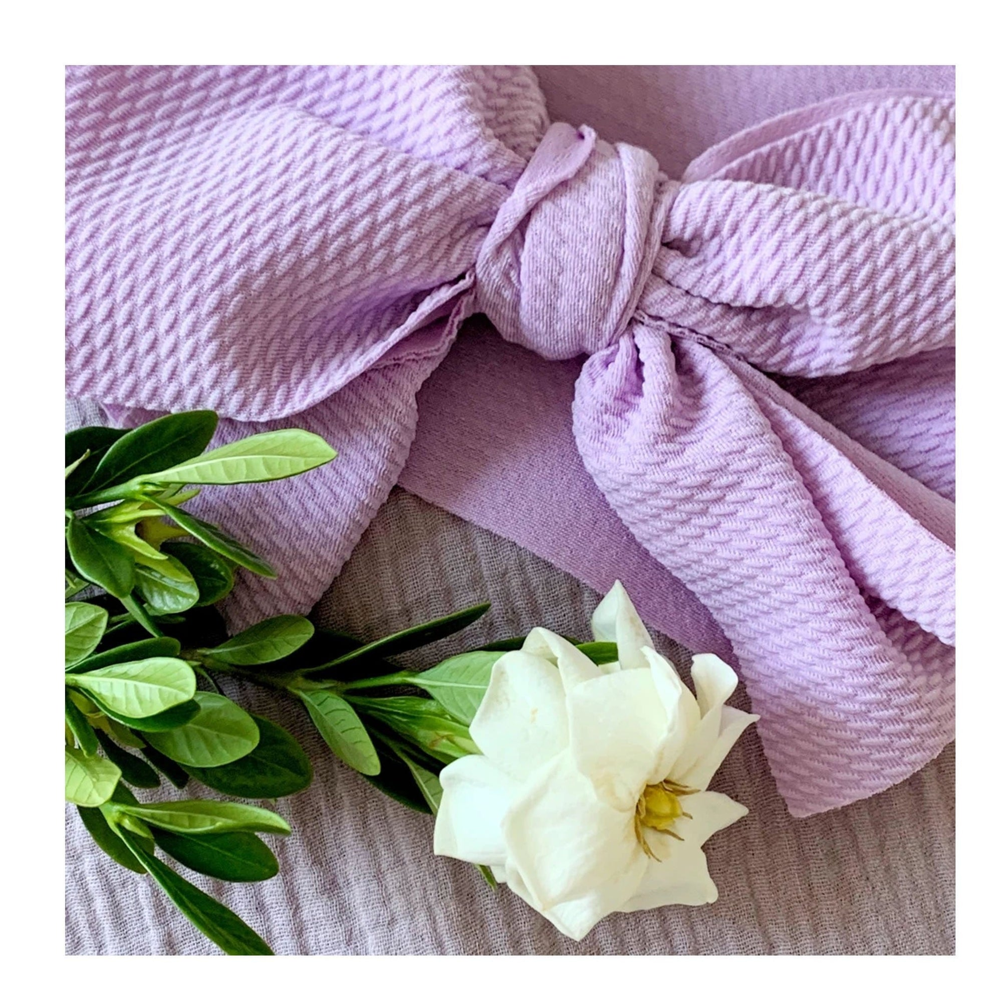Bow Collective Halle Big Bow Headwrap French Lavender (4659781861507)