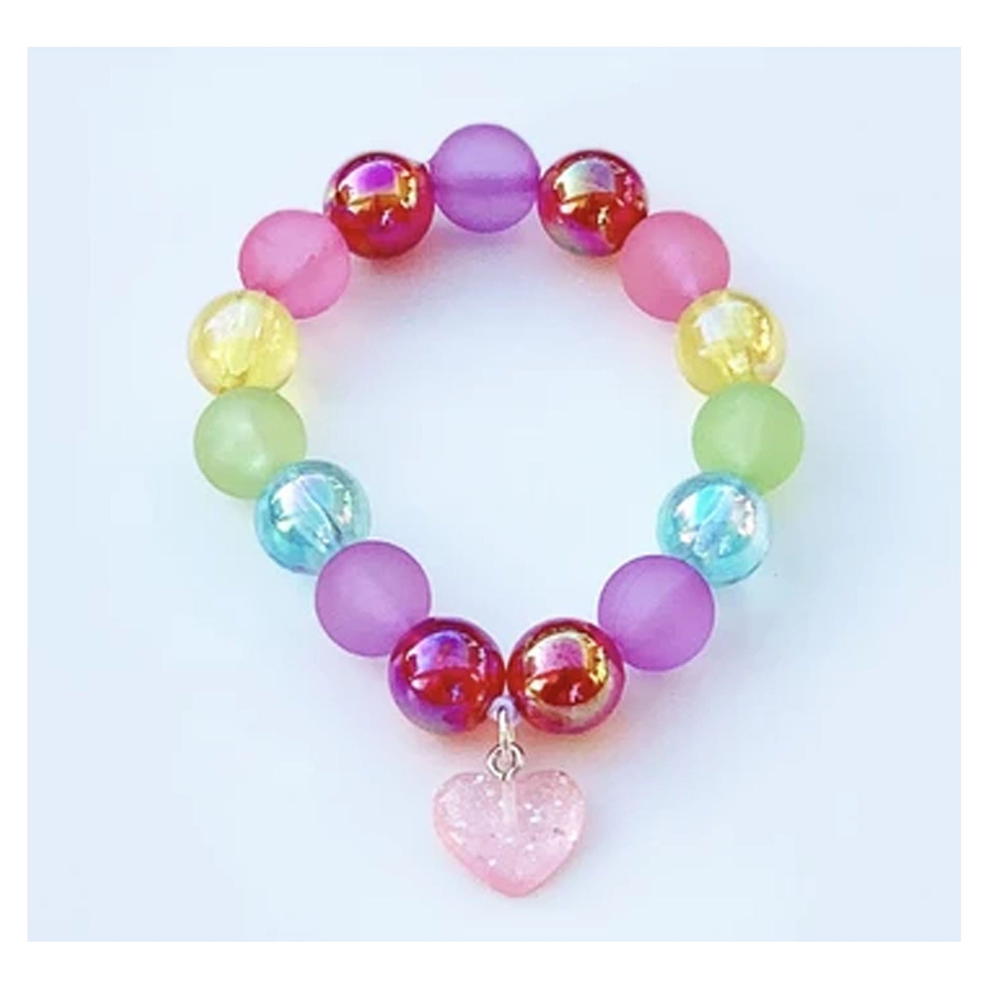Sweet as Sugar Jellewery Beaded Rainbow Unicorn Bracelet