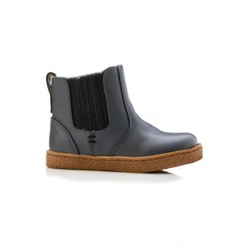 Walnut Bobby Leather Boot Charcoal