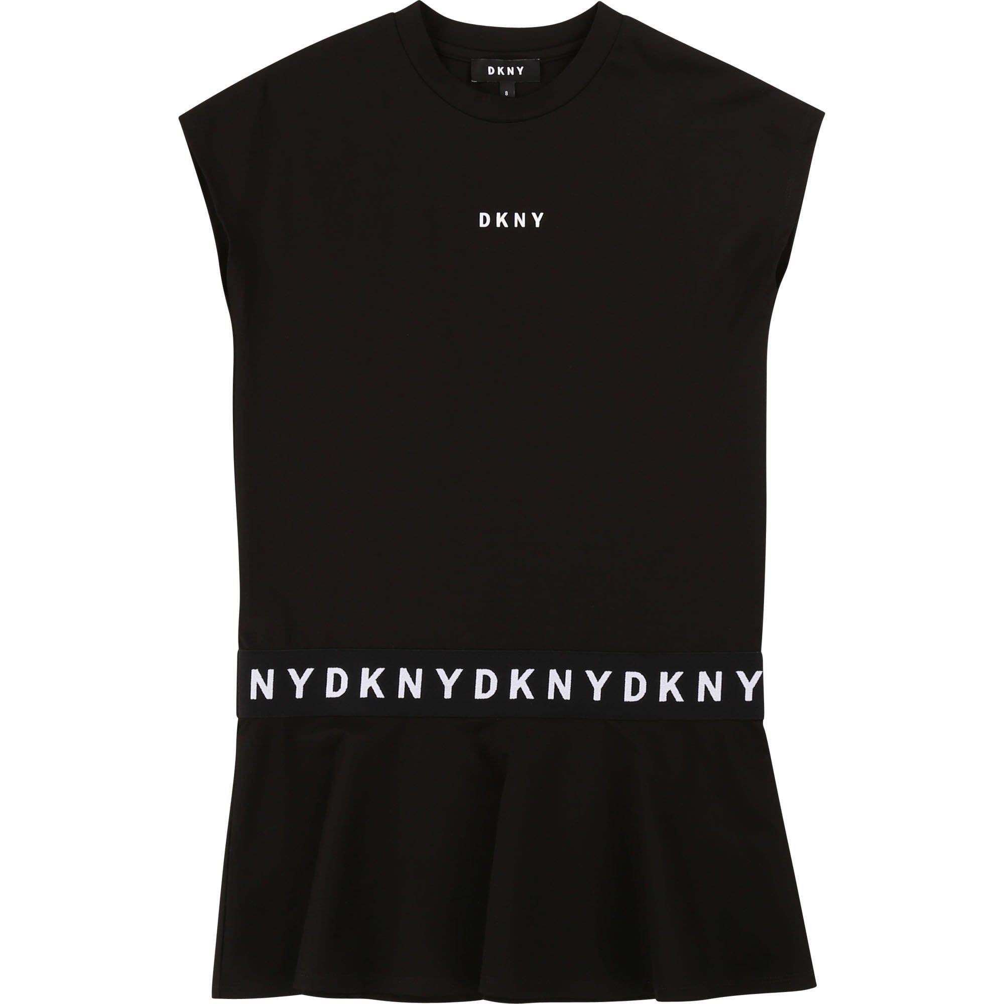DKNY Logo Black Sleeved Dress D32742/09B