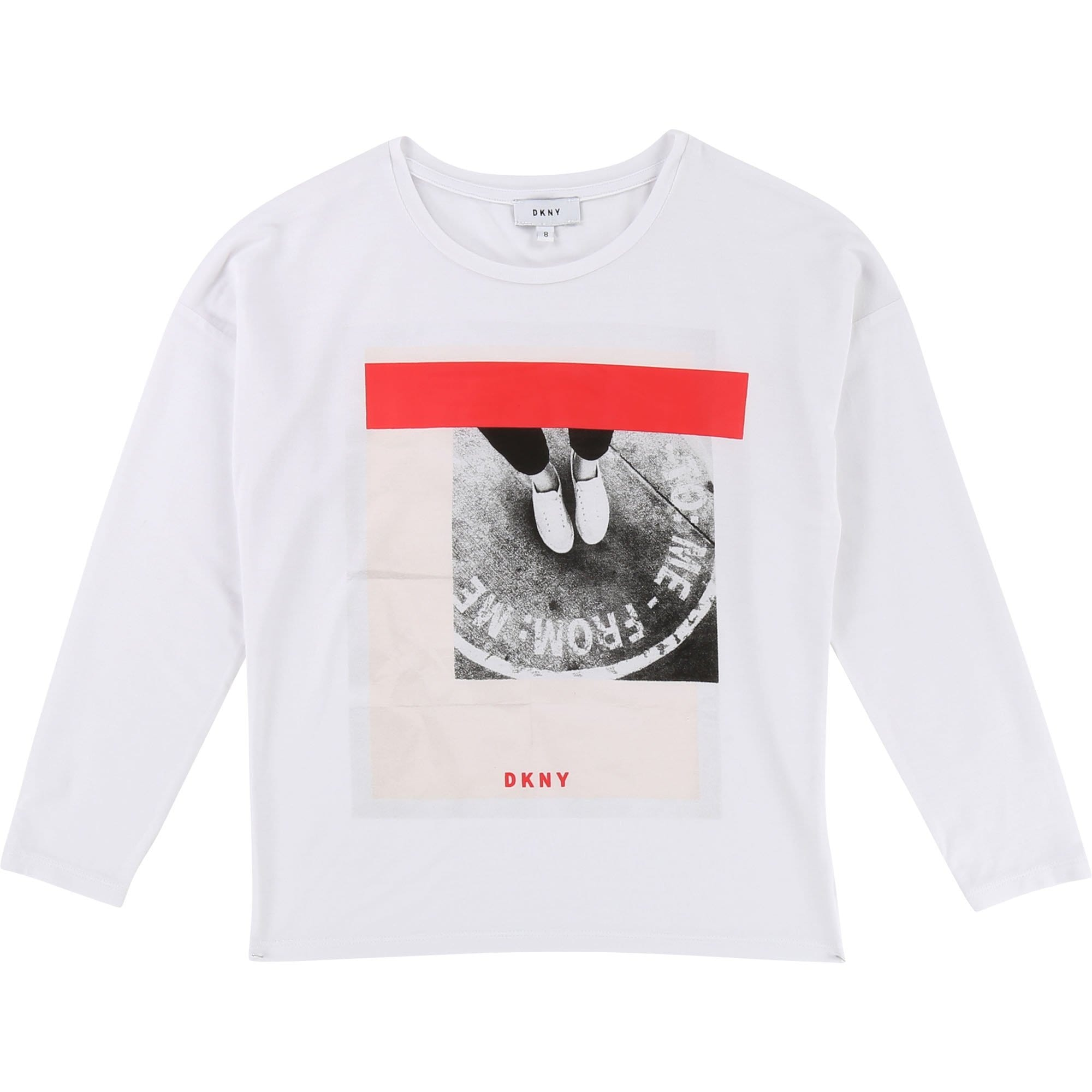 DKNY Girls Long Sleeve Printed T-Shirt (4716617924739)