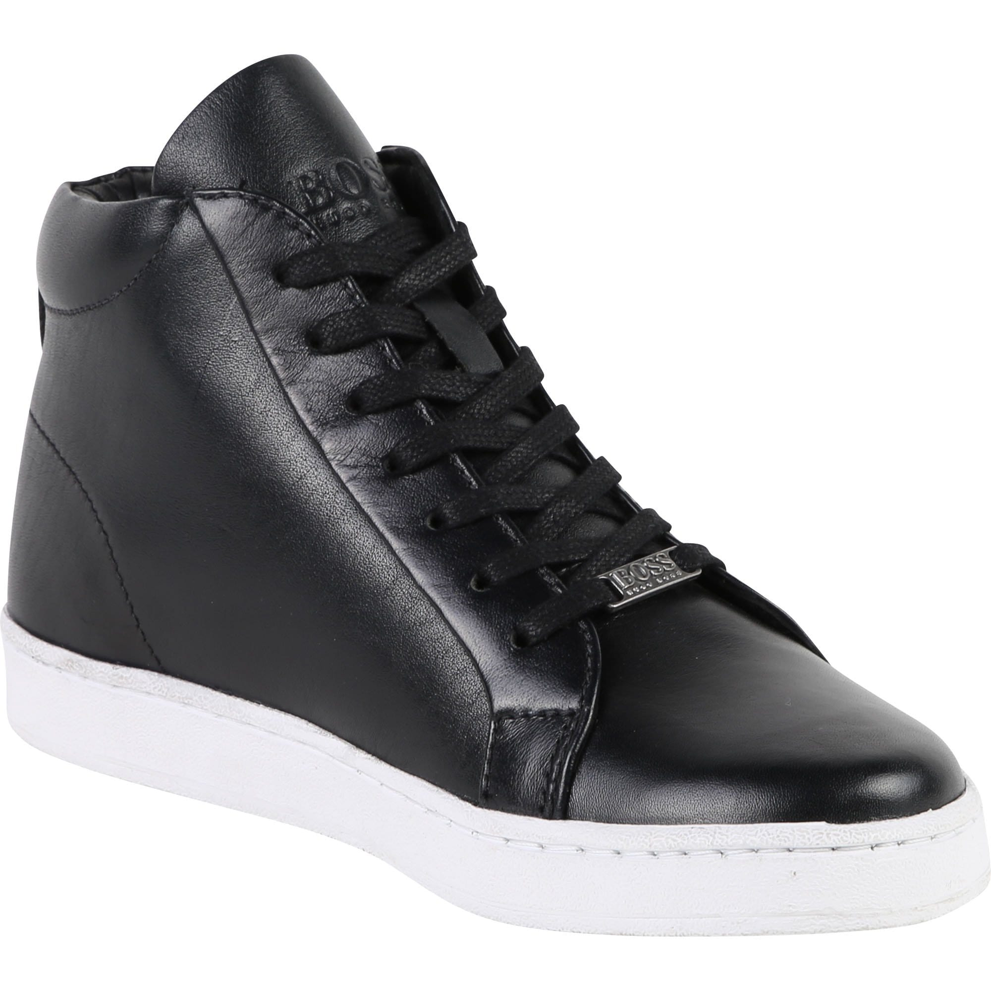Hugo Boss Boys Ankle High Trainers (4715886542979)
