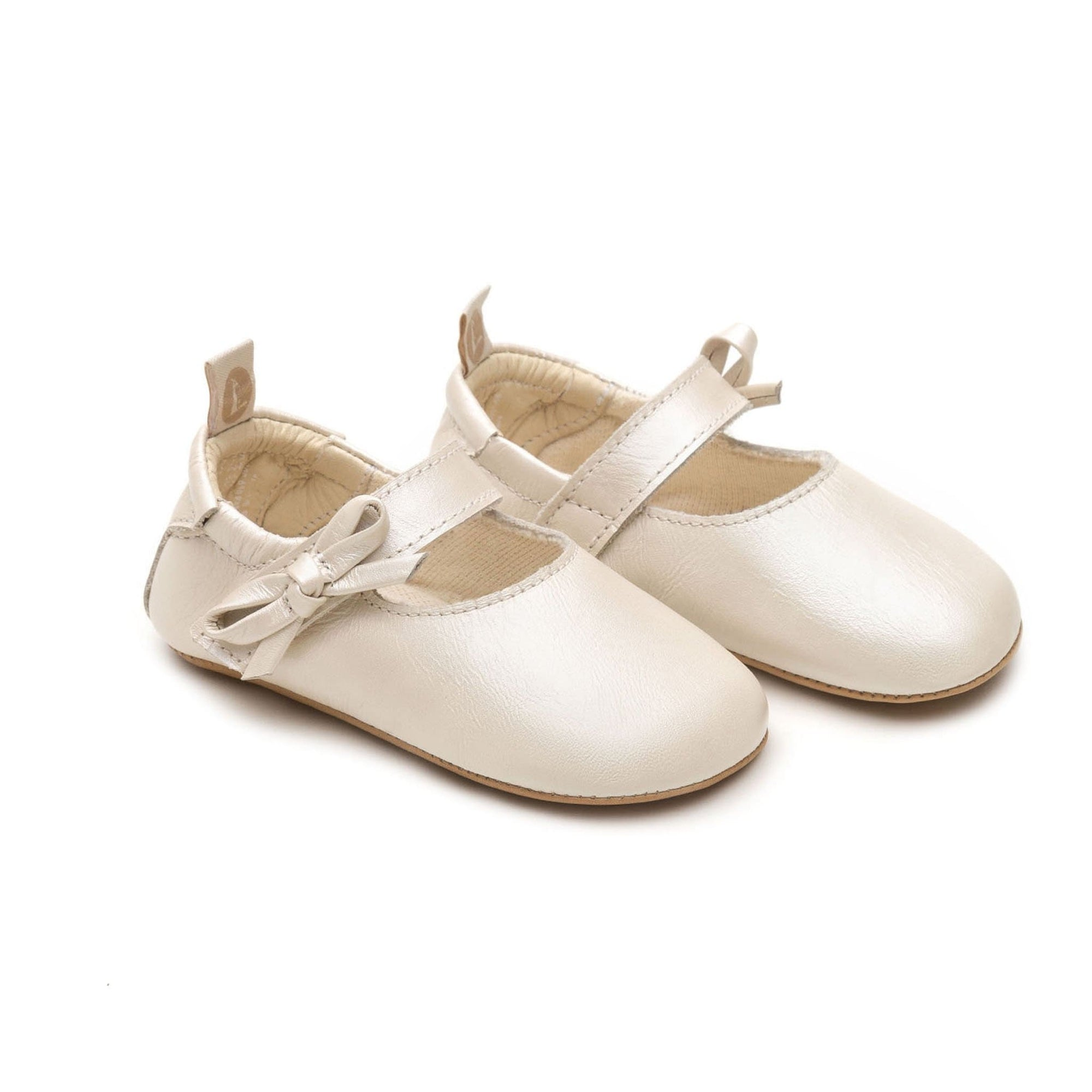 Tip Toey Joey Baby Mary Janes Gift Antique White