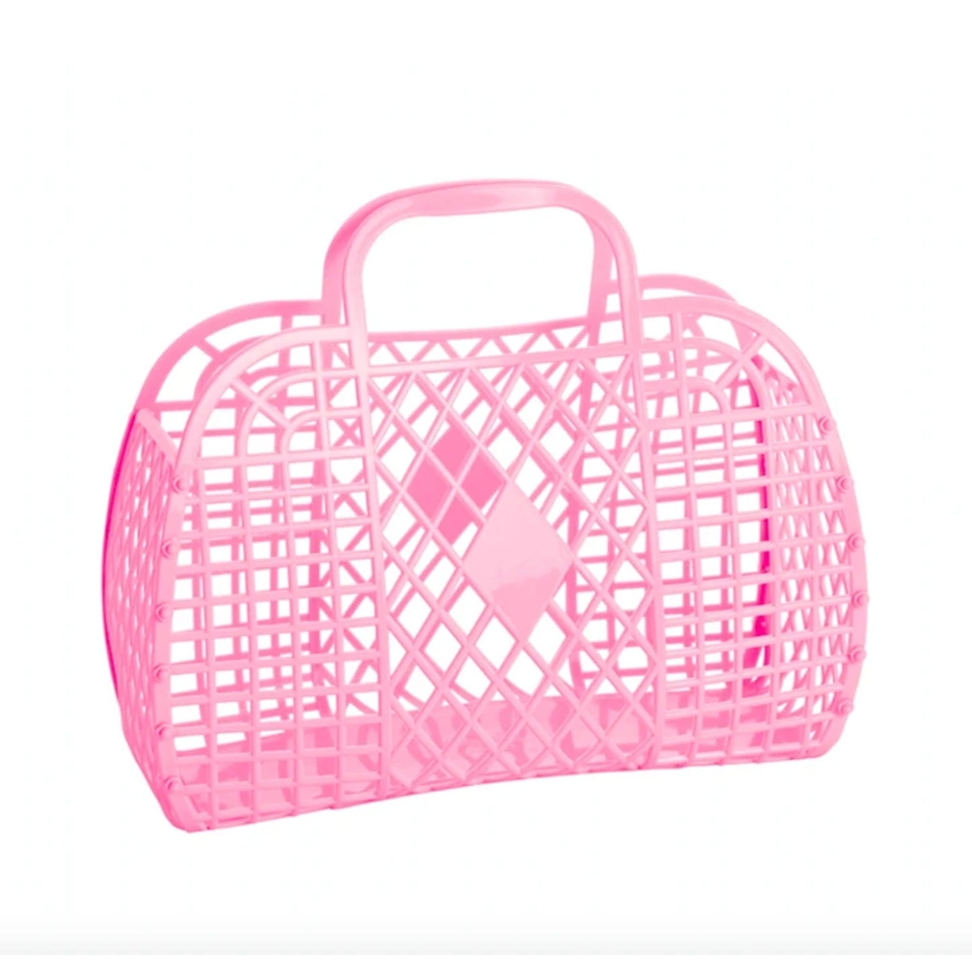 Sun Jellies Retro Basket Bubblegum Pink - Small