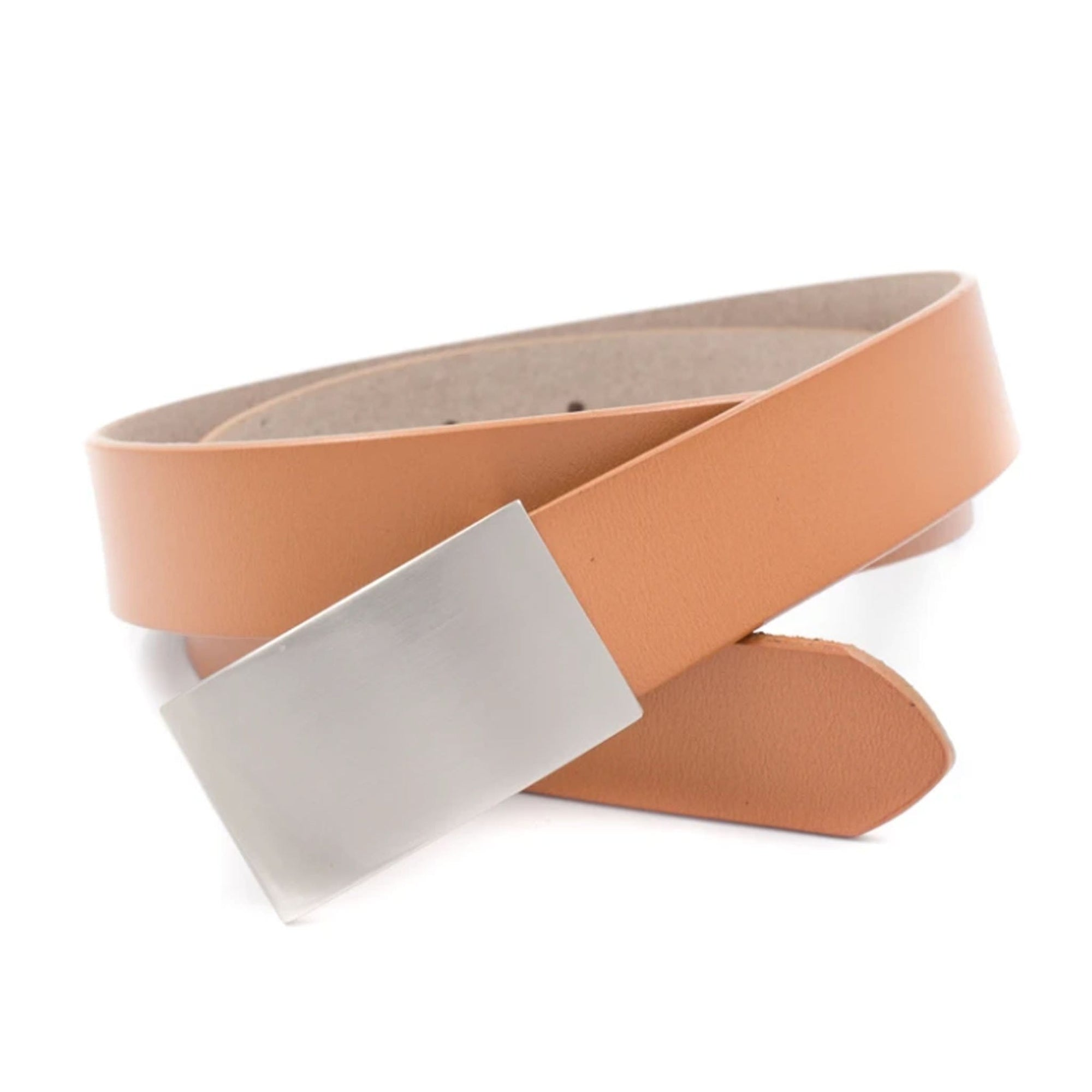 Leather Adjustable Belt - Light Tan