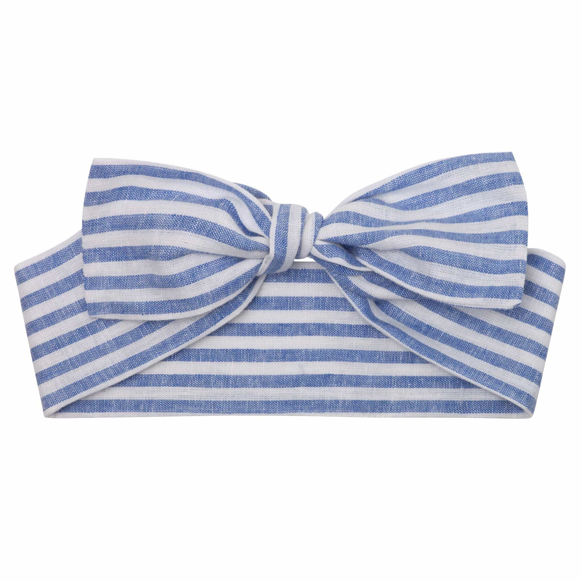Designer Kidz Linen Headband - Seaside Stripe O/S