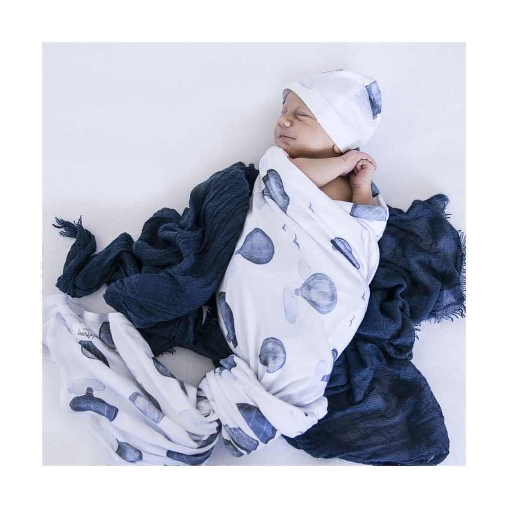 Snuggle Hunny Cloud Chaser Baby Jersey Wrap & Beanie Set (5011920060547)