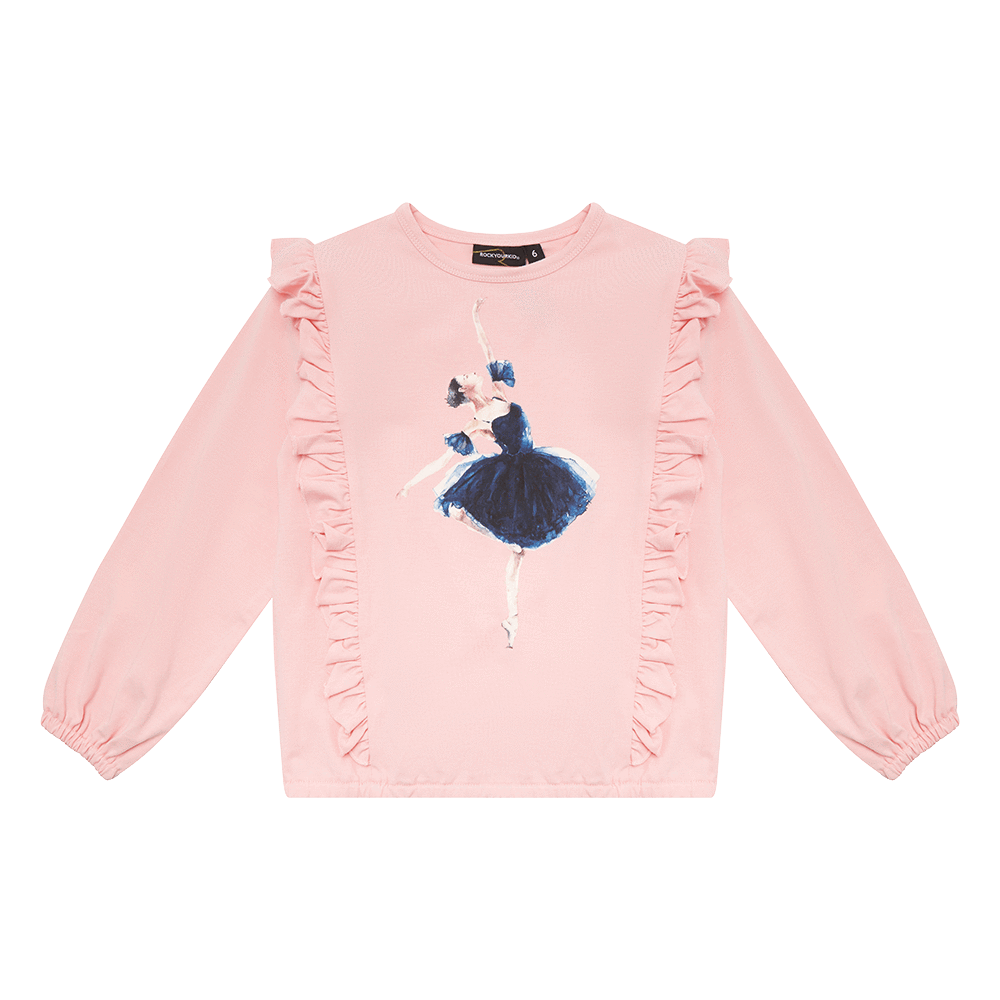 Rock Your Kid Ballerina LS T-Shirt with frill detail