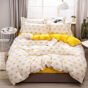 Solstice Cartoon green Printing cat head Children/kid Bedding Sets Duvet Cover Bed Sheet Pillowcase Bed Cover Linens Bedclothes