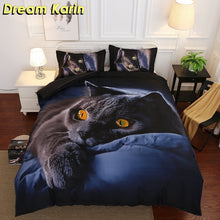 Load image into Gallery viewer, 3D Printed Duvet Cover Sets Animal Wolf Cat Bed Linens Bedding Sets with Pillowcase Single Full Size Bedclothes Comforter Covers