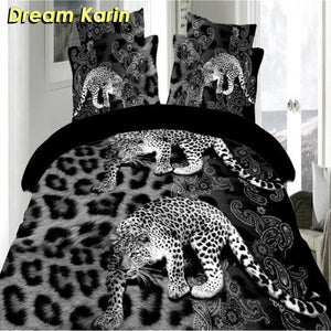 3D Printed Duvet Cover Sets Animal Wolf Cat Bed Linens Bedding Sets with Pillowcase Single Full Size Bedclothes Comforter Covers