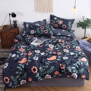 mylb Bedding Set Blue Euro Bedspread Luxury Duvet Cover Double Bed Sheets Linens Queen King Adult Bedclothes