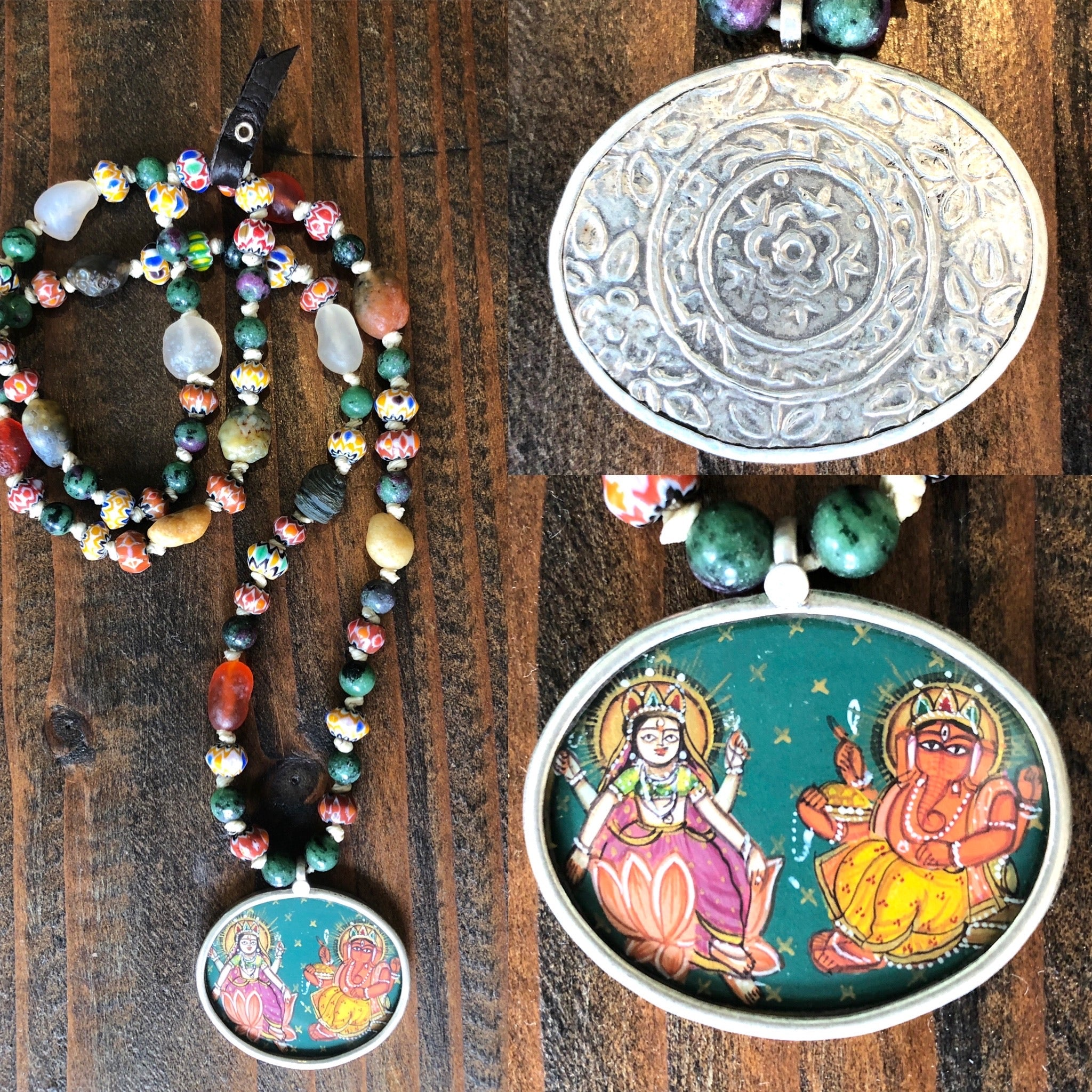Lakshmi and Ganesha Necklace