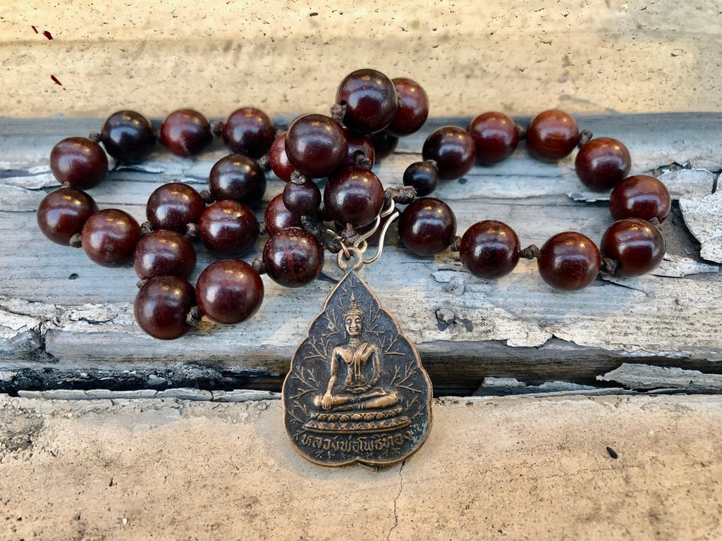 Buddha on a Leaf Necklace