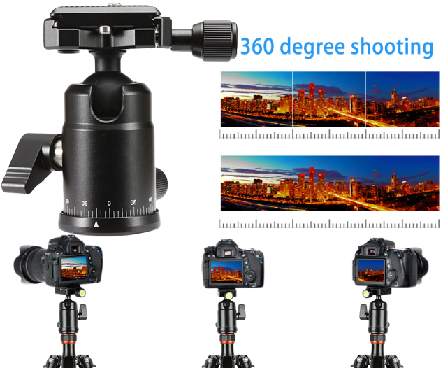 Portable Carbon Fiber Compact Desktop Macro Mini Tripod Kit