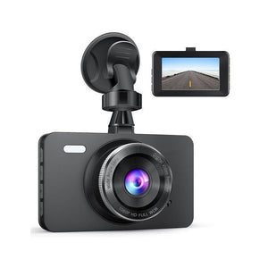 "1080P Car DVR Dashboard Camera Full HD with 3"" LCD Screen 170°Wide Angle, WDR, G-Sensor, Loop Recording and Motion Detection"