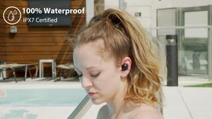100% Waterproof Earbuds: 45-h Battery & Bluetooth 5.0