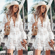 Load image into Gallery viewer, New Summer Women Bikini Cover Up Floral Lace