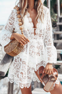 New Summer Women Bikini Cover Up Floral Lace