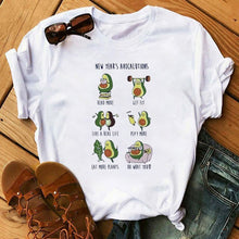 Load image into Gallery viewer, Women T-Shirts Cute Avocado Printed Top