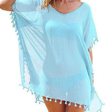 Load image into Gallery viewer, Chiffon Tassels Beach Wear Women Swimsuit Cover Up