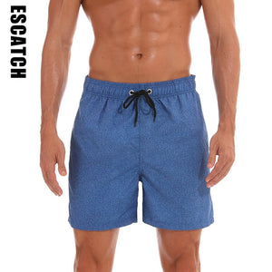 New Men's Swim Trunks Quick Dry Beach Shorts with Pockets with Mesh Lining