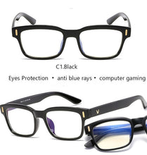 Load image into Gallery viewer, Blue Ray Computer Glasses Men Screen Radiation Eyewear Brand Design Office Gaming Blue Light Goggle UV Blocking Eye Spectacles