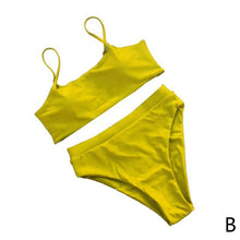 Load image into Gallery viewer, Solid Color Bikini Waist High Swimwear