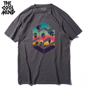 Casual Men's 100% cotton Palm Trees