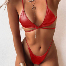 Load image into Gallery viewer, Red Bikini Set String Swimsuit
