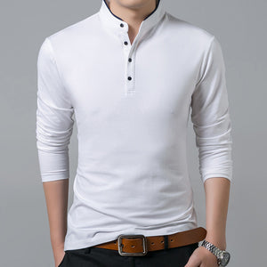 Men Cotton T Shirt Full Sleeve Solid Color